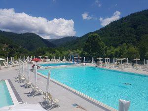 Public swimming pool at Bagni di Lucca