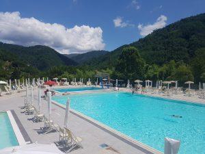 Public swimming pool in Bagni di Lucca