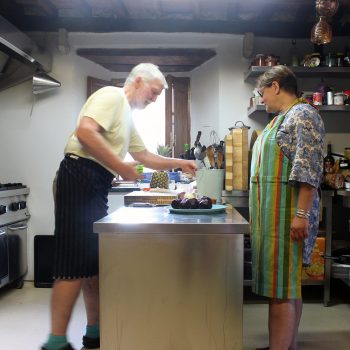 Preparing a meal at Casa Marchi cookery school