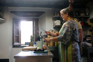 Learning knife skills at Casa Marchi cookery school