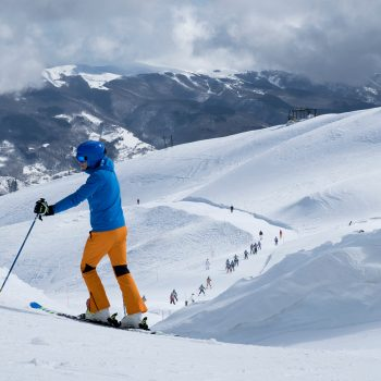 Skiing in Albertone, Italy