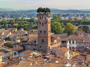 The city of Lucca, Tuscany